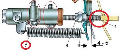 Снятие и установка главного цилиндров