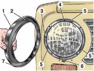 Конструкция передних фар ВАЗ 2101