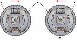 регулировка задних тормозов