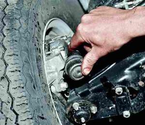 Проверка перед ремонтом шаровых шарниров рулевых тяг автомобиля ВАЗ