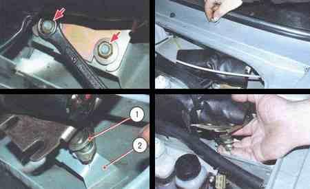 Порядок операций по ремонту стеклоочистителя снятие и установка