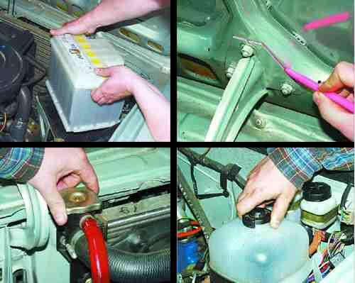 Снятие и установка двигателя ВАЗ, порядок выполнения