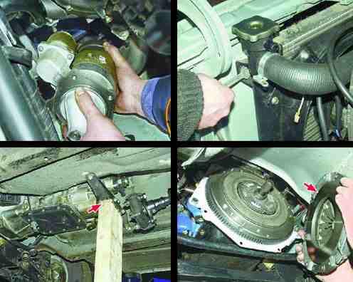 Снятие и установка двигателя ВАЗ, порядок