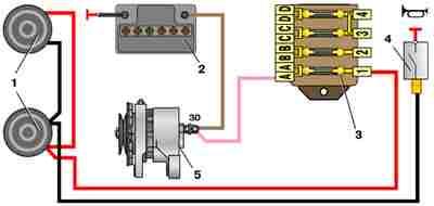 Схема звукового сигнала автомобиля ВАЗ 2101